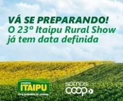 Itaipu Rural Show – Em 2021 a exposição será no final de fevereiro