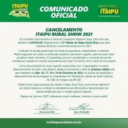 COVID-19: Itaipu Rural Show 2021 é cancelado e será revertido em Dias de Campo